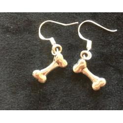 Boucles d'oreilles os